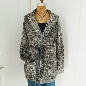 Cynthia Rowley Brown Marled Knit Cardigan Size XL